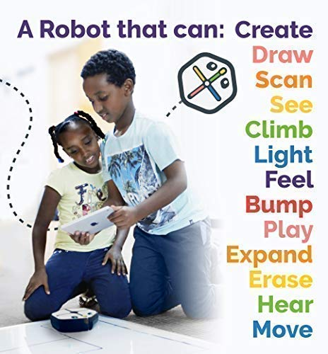 ROOT rt1 iRobot Coding Robot : Programmable STEM/STEAM Toy That Grows with You, Creative Play Through Art, Music, and Code, Voice-Activated, Bluetooth Connection, App-Enabled (Compatible with iOS)