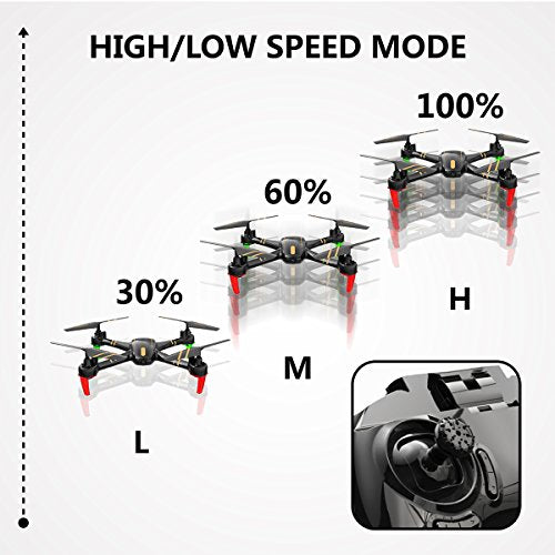 REMOKING RC Drone Racing Quadcopter Headless Mode 2.4GHz 360°flip 4 Channels Altitude Hold Indoor and Outdoor Sport Game Good for Children and Adult as Gifts 12mins Long Flight Time - Black