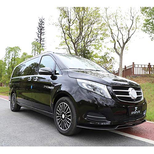 LIBAITIAN Automotive Air Dams Head Front Bumper Lip Spoiler Splitters Side Skirt Spoiler Wing Body Protector Fit for Mercedes-Benz V-Class W447 2016-2018 Carbon Fiber Accessories