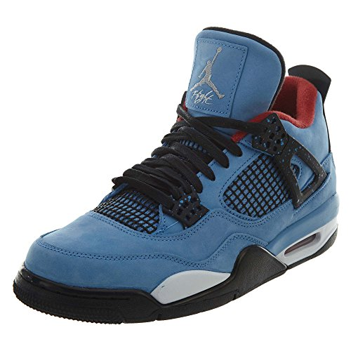 Nike Mens Air Jordan 4 Retro Cactus Jack University Blue/Black Suede Size 9