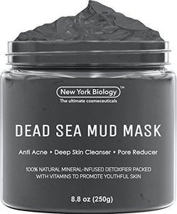New York Biology Dead Sea Mud Mask for Face and Body - Natural Spa Quality Pore Reducer for Acne, Blackheads and Oily Skin - Tightens Skin for A Healthier Complexion - 8.8 oz