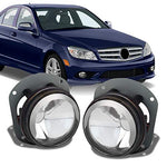 For [Original Style] Mercedes Benz W164 W4 C209 W216 R171 Clear Fog Lamps Lights Pair Replacement