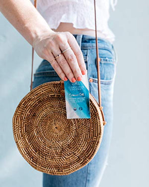 """Mindful Pouch of Coconut Oil Packets"" by Conscious Coconut 