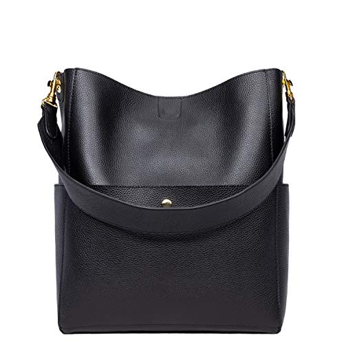 RFID Genuine Soft Leather Designer Handbags Womens Bucket Tote Purses Crossbody Shoulder Bag