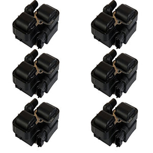 ENA Pack of 6 Ignition Coils Compatible with Mercedes-benz Chrysler Crossfire L6 V6 V8 Compatible with C1444 C1361 UF-359