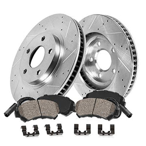 Callahan CDS02315 FRONT 295mm D/S 5 Lug [2] Rotors + Ceramic Brake Pads + Hardware [ fit Mercedes Benz E320 E350 W211 ]
