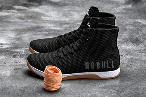NOBULL Men's High-Top Black White Gum Trainer 13 US