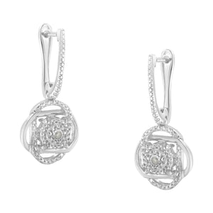 Sterling Silver 1/20ct TDW Rose cut Diamond Dangle