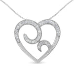 Sterling Silver 1/4ct TDW Round Diamond Heart