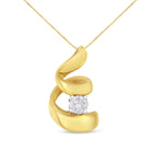 10k Yellow Gold 1/10ct TDW Round-cut Diamond