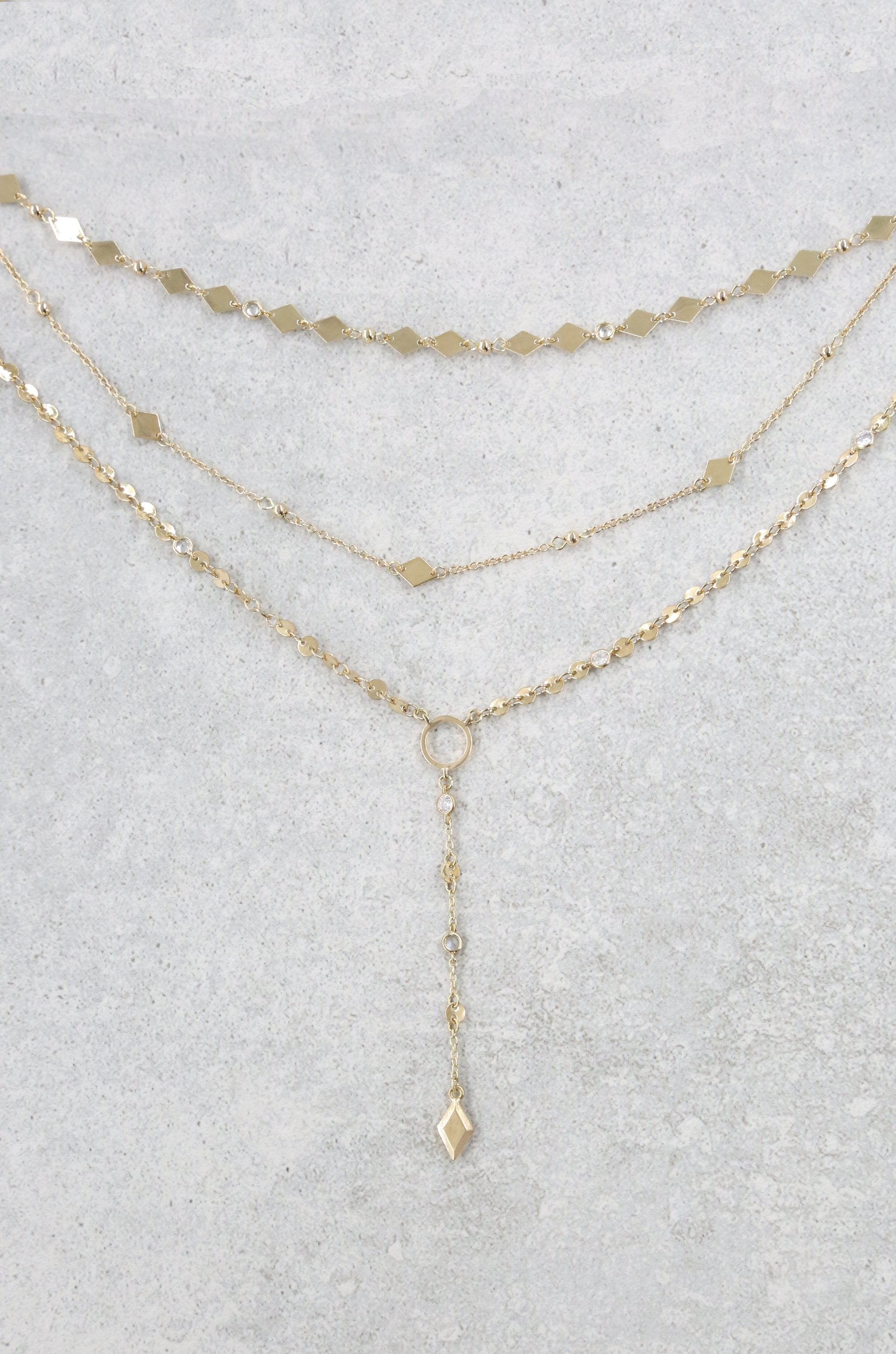 Diamond in the Desert 18k Gold Plated Necklace Set