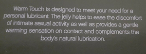 New Warming Gel Jelly Lubricant 2-oz tube by Natureplex K-Y KY Sex Lube