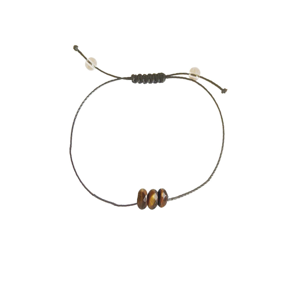 Protection - Tiger Eye + Nylon + Choice of Anklet or Bracelet