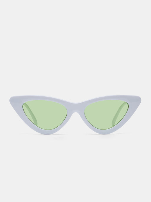 Cat Eye white sunglasses
