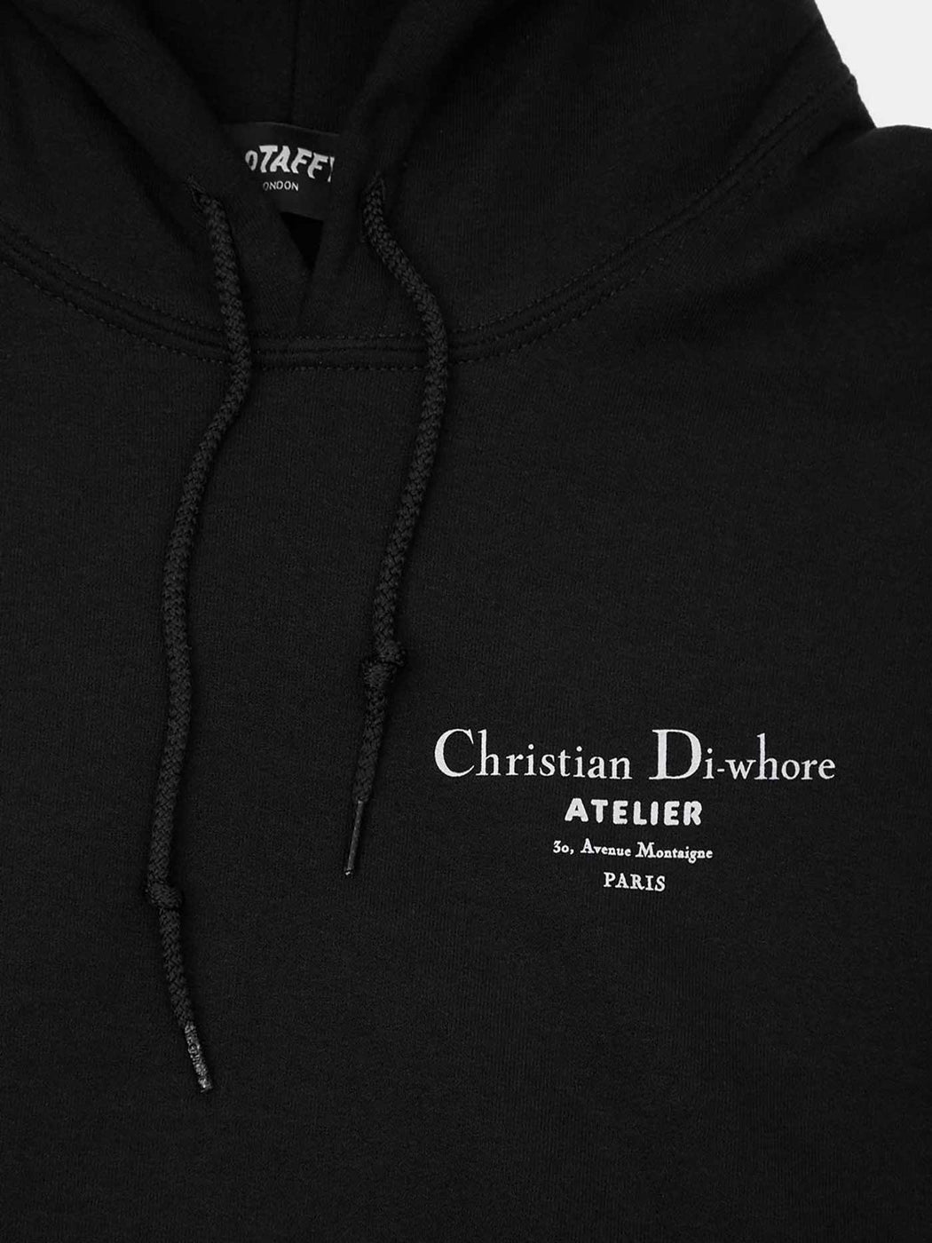 Black Christian Di-whore Hoodie