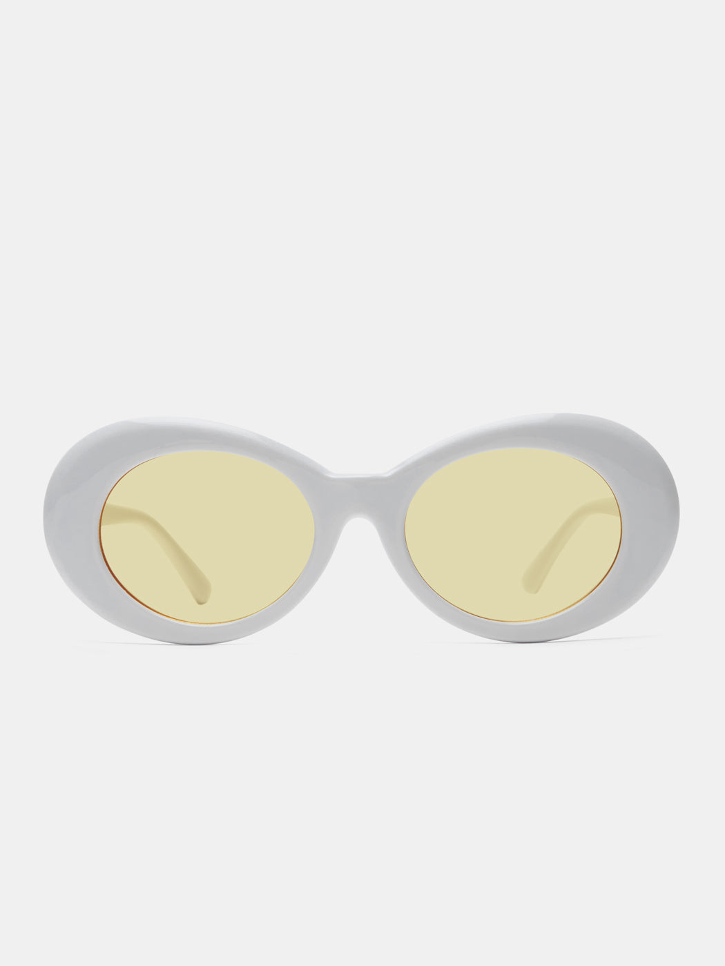 Oval White Sunglasses