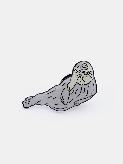 Happy Seal Pin Badge