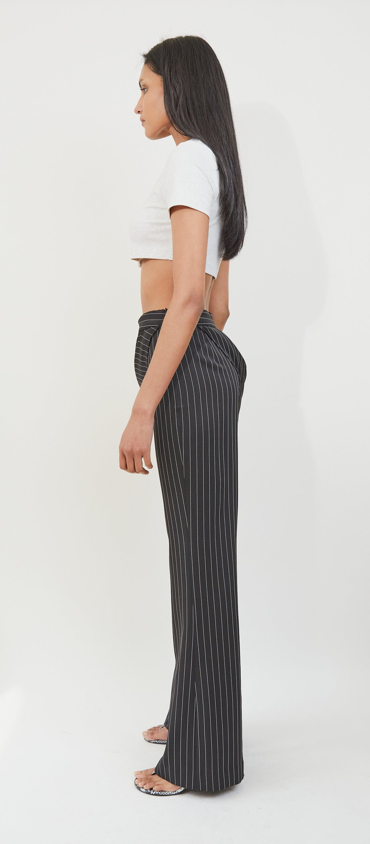 Draped Striped Pants