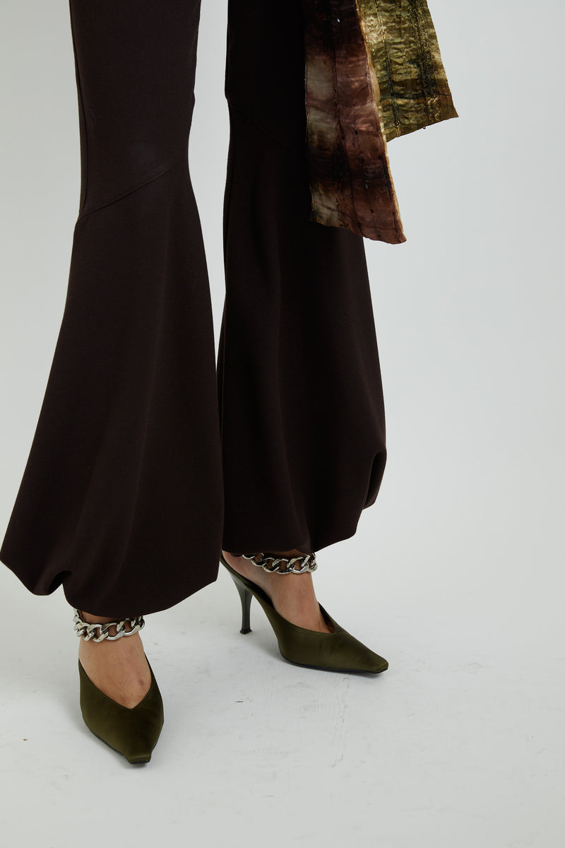 Brown Wool Balloon Pants