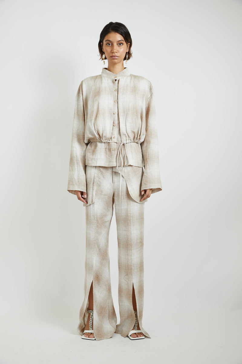Linen Ruched Jacket