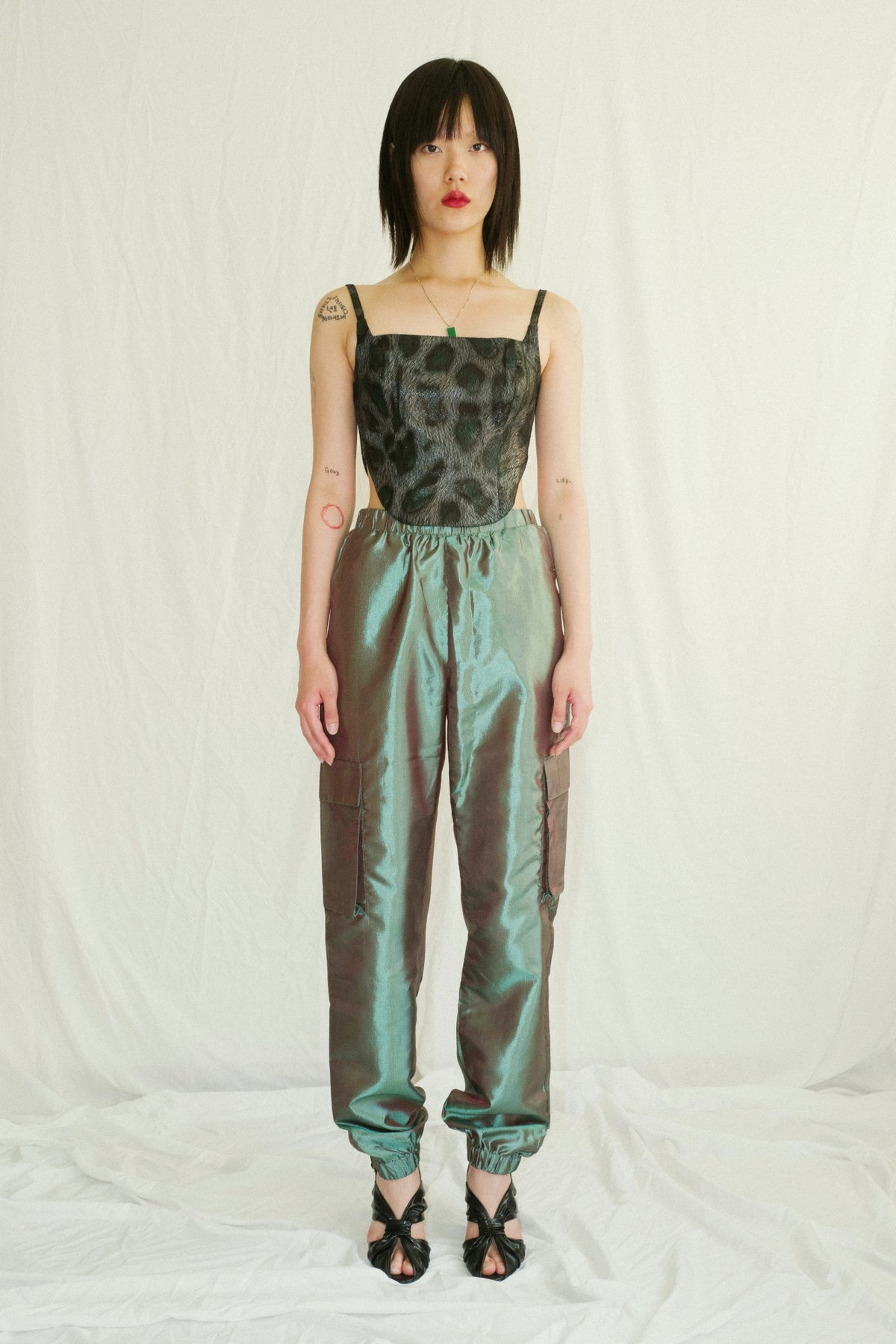 Emerald Green Taffeta Pants