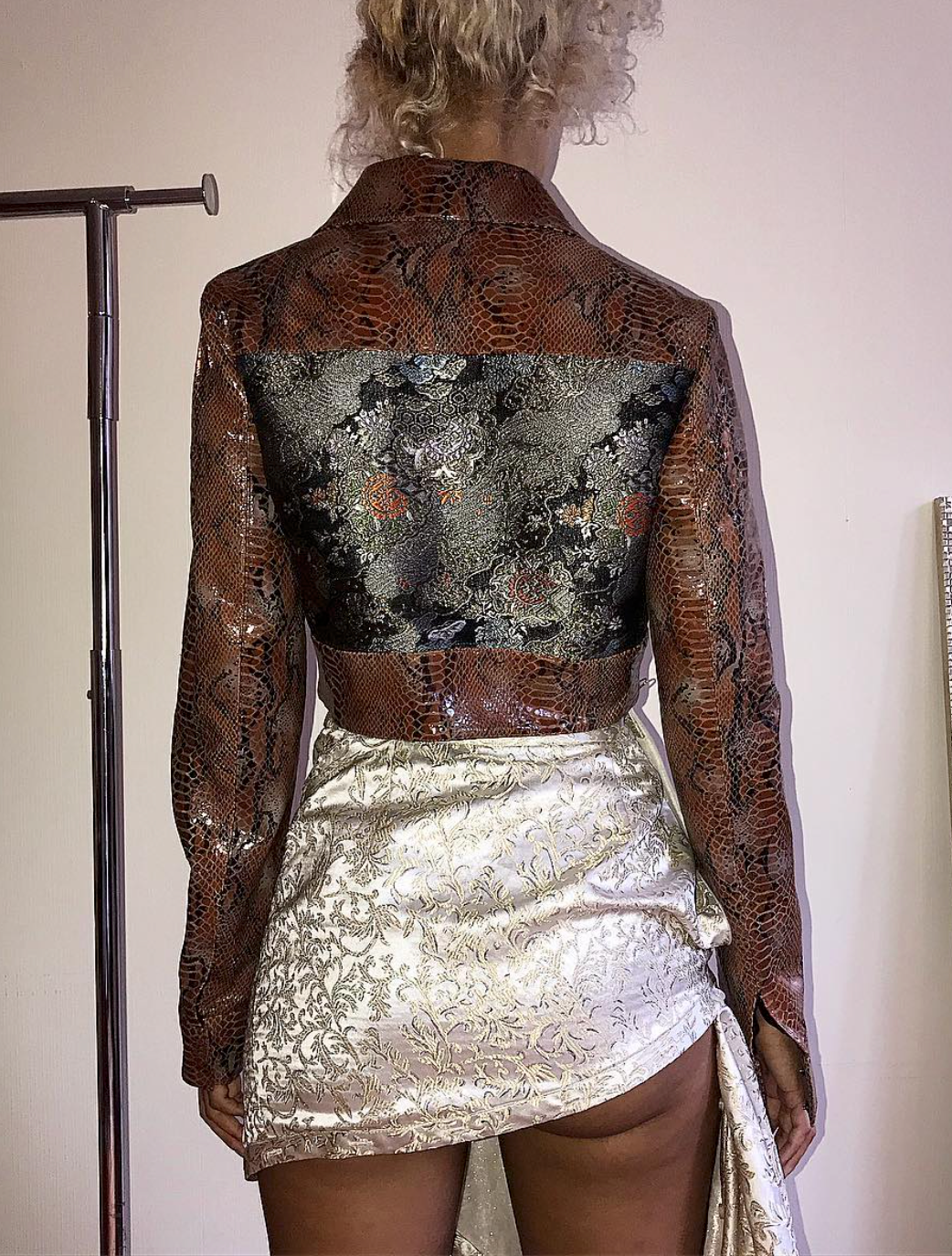 Brocade and Snakeskin Jacket