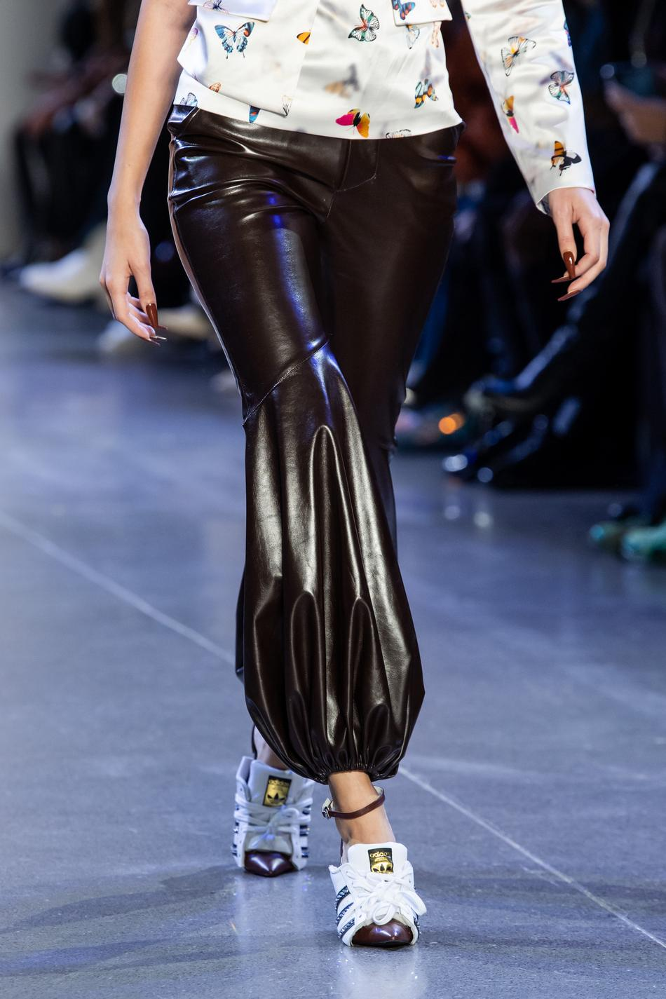 Brown Pleather Balloon Pant