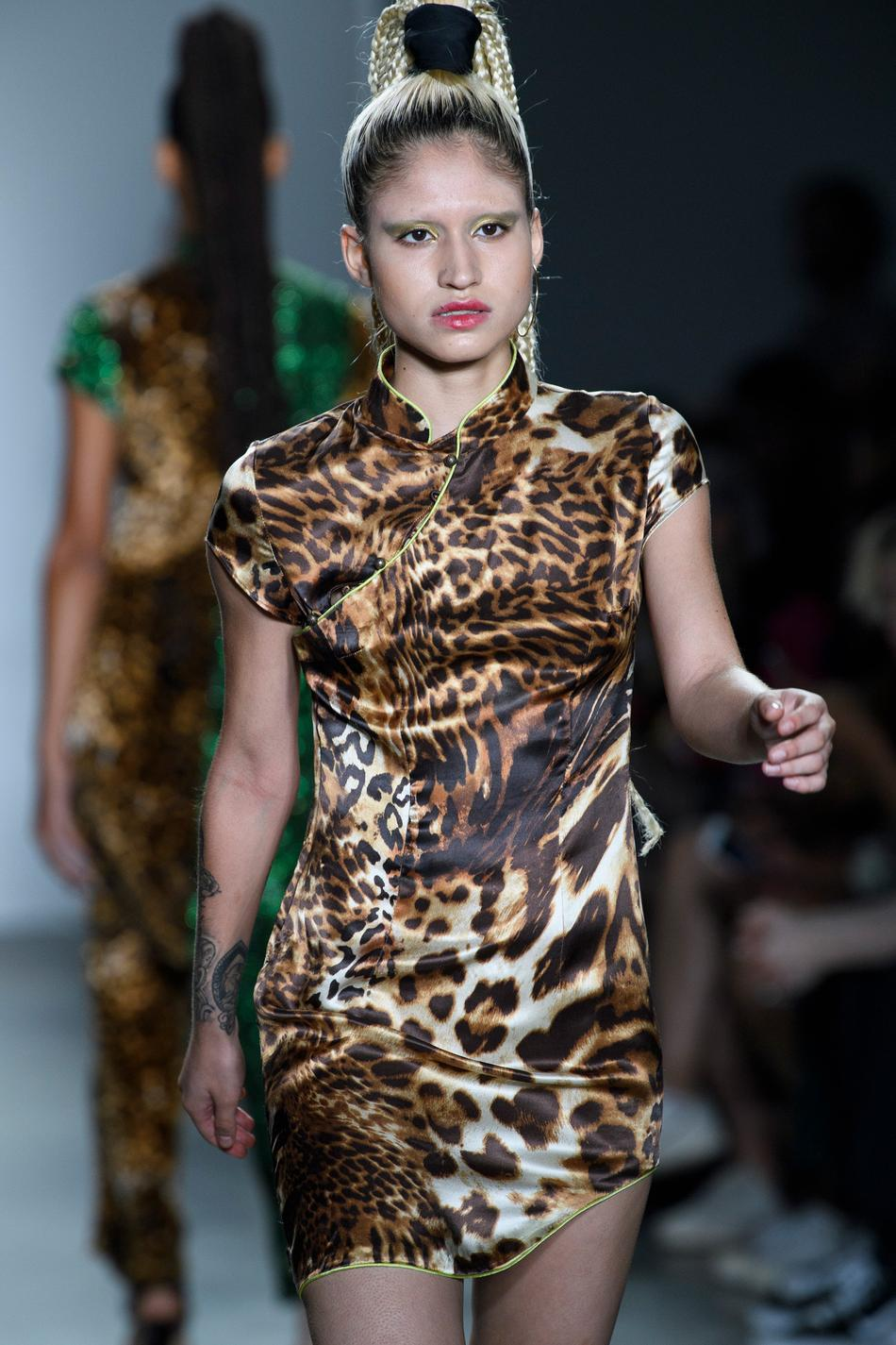 Silk Leopard Mini Dress