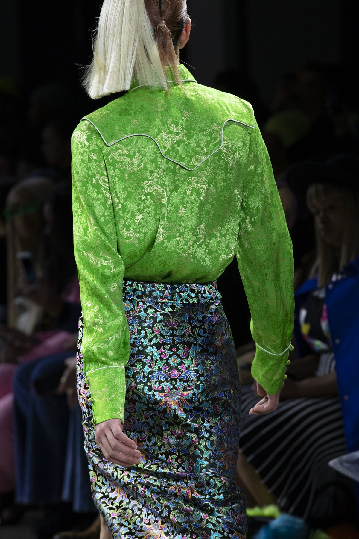 Green Dragon Silk Shirt