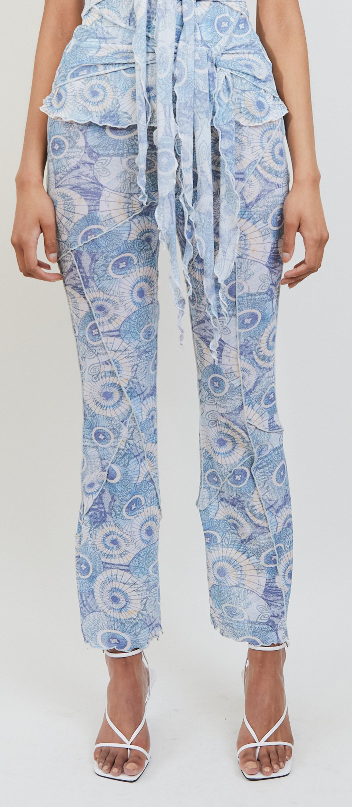 Shell Print Stitch Jersey Pants