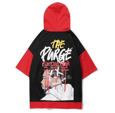 The Purge - Hooded T-Shirt - DISXENT