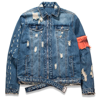 """No Fear"" Denim Jacket - DISXENT STREETWEAR"