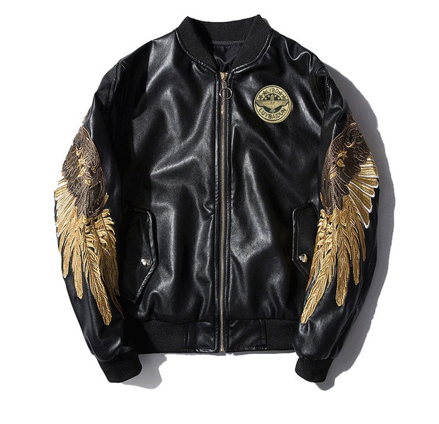 Ancient God - Bomber Leather Jackets
