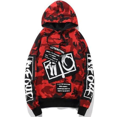 Camo Street Hoodie - DISXENT STREETWEAR