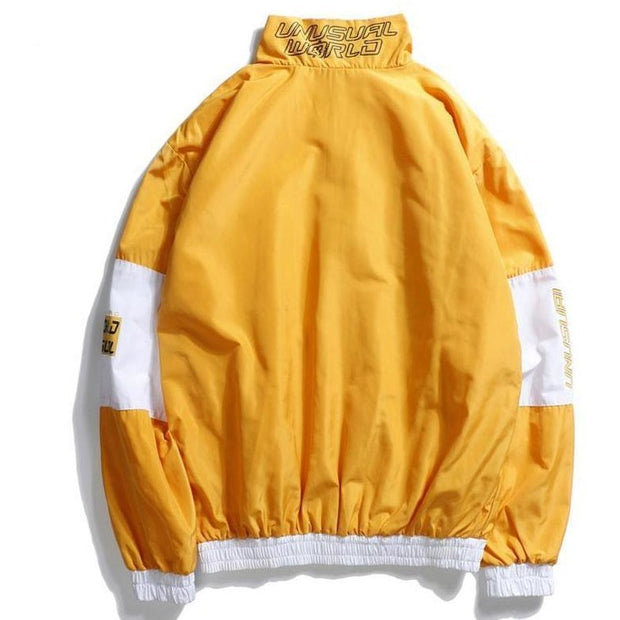 """Unusual World"" Windbreaker Jacket - DISXENT STREETWEAR"