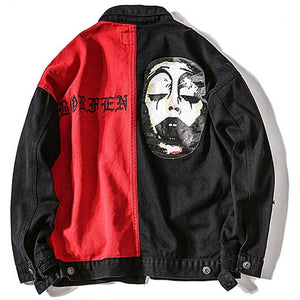 """Clown"" Denim Jacket - DISXENT"