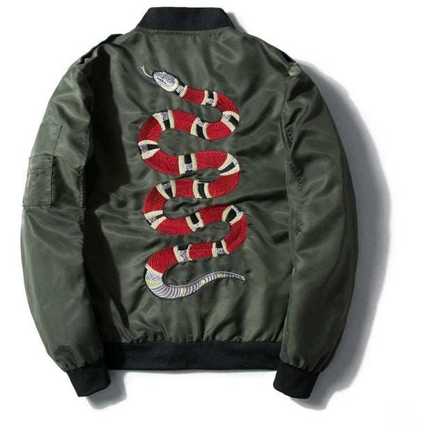 """Snake"" Bomber Jacket - DISXENT STREETWEAR"