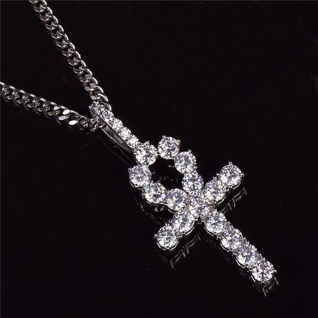 Iced Zircon Cross Necklace - DISXENT