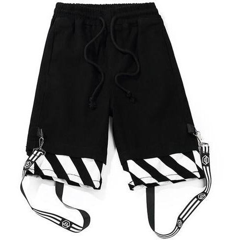 Black White - Cargo Shorts - DISXENT