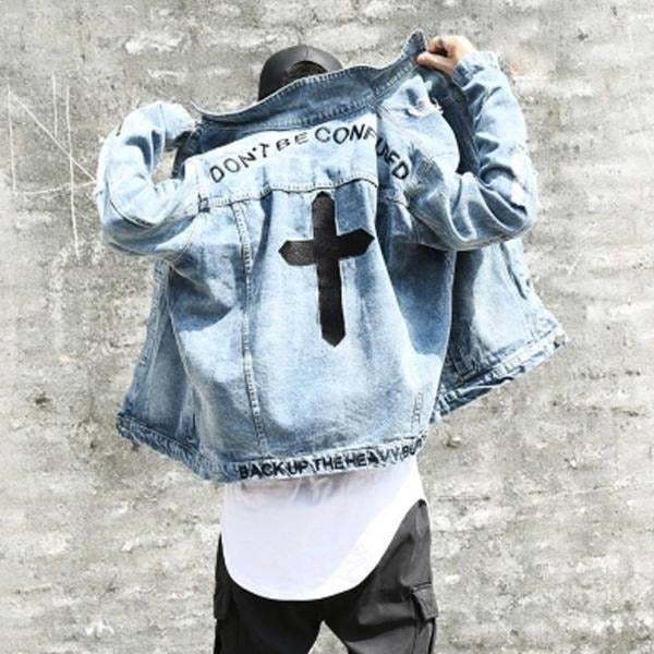 """Cross"" Denim Jacket - DISXENT"