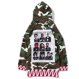 """Bad Boy Mad"" Camouflage Jacket - DISXENT"