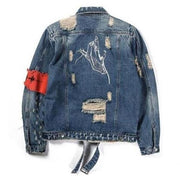 """No Fear"" Denim Jacket - DISXENT"