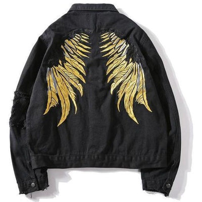 """Wings"" Denim Jacket - DISXENT STREETWEAR"