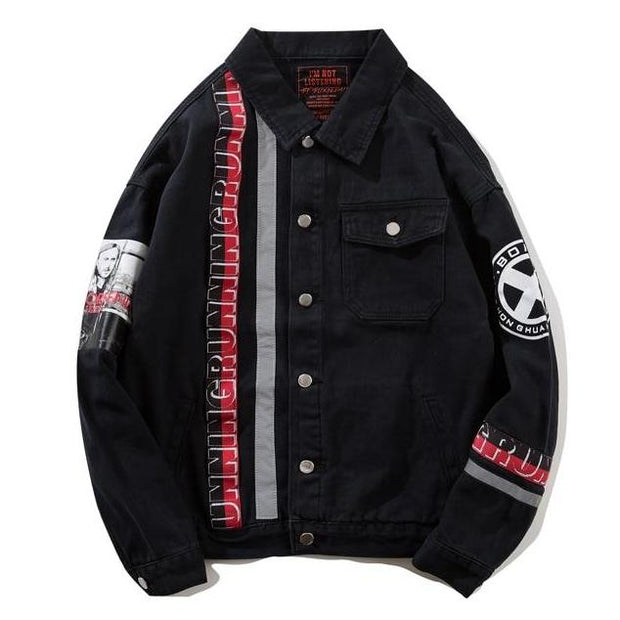 """Star"" Denim Jacket - DISXENT STREETWEAR"