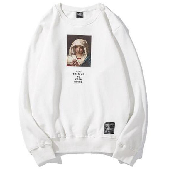 """Virgin Mary"" Sweatshirt - DISXENT"