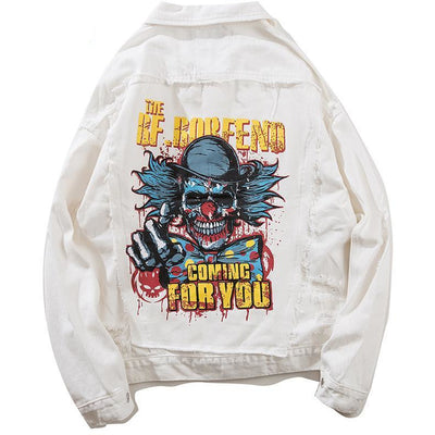 """Coming For You"" Denim Jacket - DISXENT STREETWEAR"
