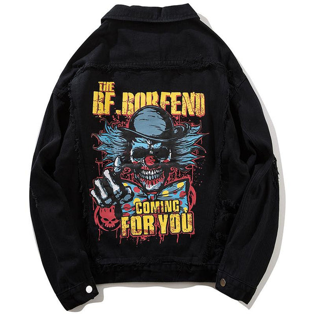 """Coming For You"" Denim Jacket - DISXENT"
