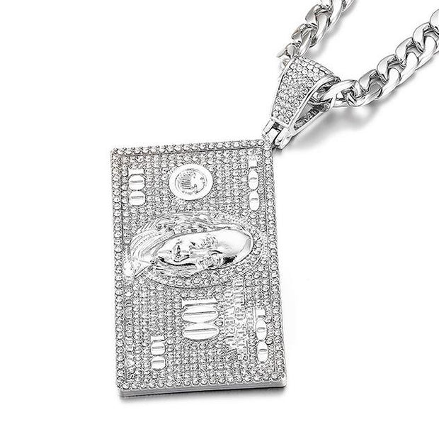 Iced Franklin Head Pendant - DISXENT