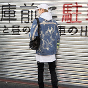 """Paint Splash"" Denim Jacket - DISXENT STREETWEAR"