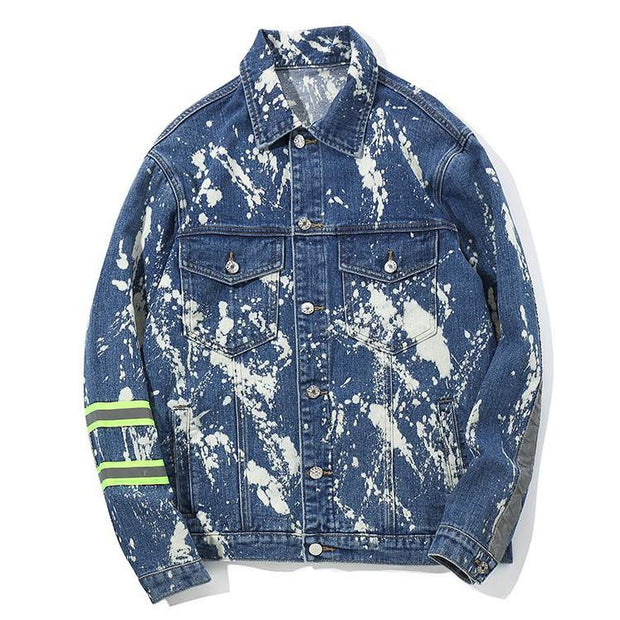 """Paint Splash"" Denim Jacket - DISXENT"
